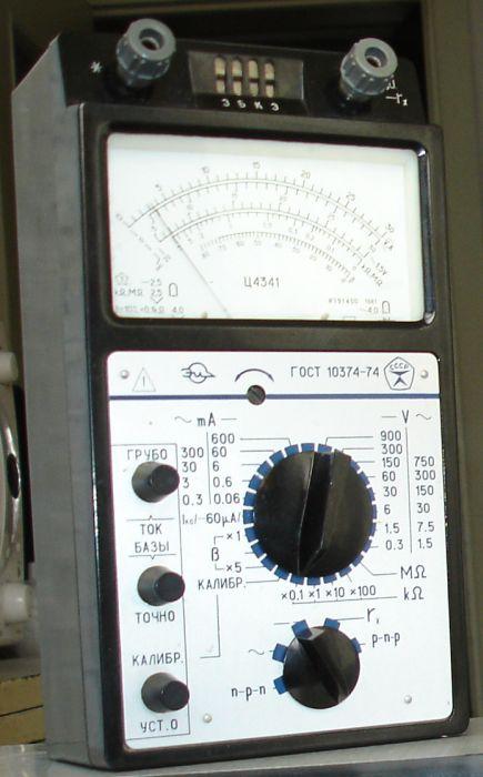 100,02 Kb (cкачиваний: 488).  Принципиальная схема и перечень элементов прибора комбинированного Ц4341.